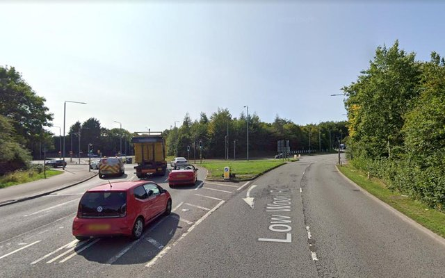 William Goldhawk drove the wrong way around Nuthall roundabout during the 80mph chase.