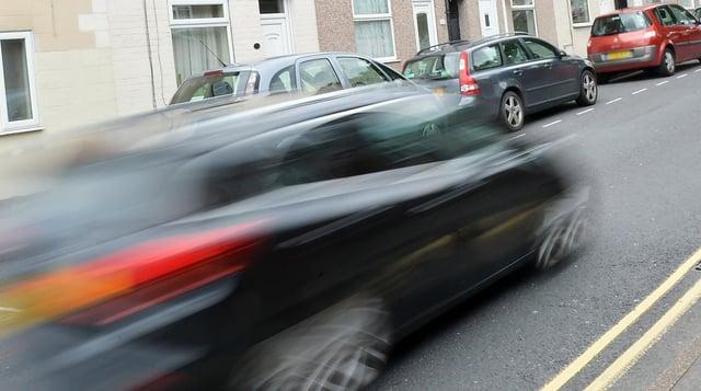 Image of a speeding car
