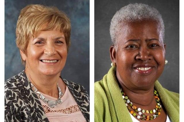 Couns Cheryl Barnard (left) and Eunice Campbell-Clark are on the executive