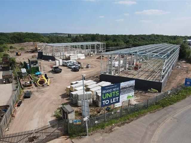 Hucknall's Whyburn Business Park is rapidly taking shape
