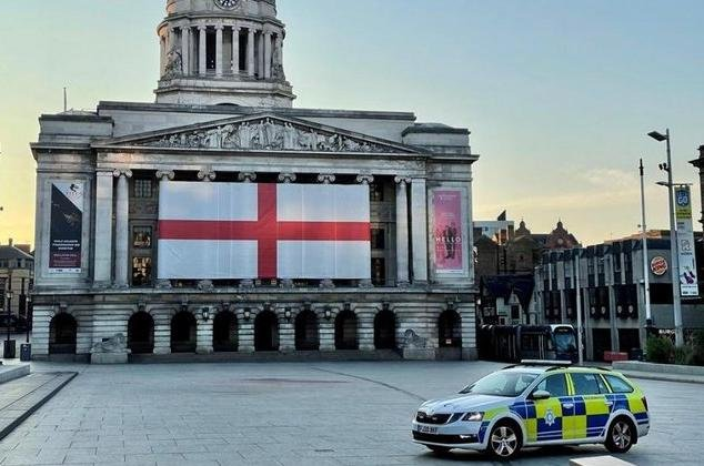 Police have praised football fans for their good behaviour during the Euros. Photo: Nottinghamshire Police.