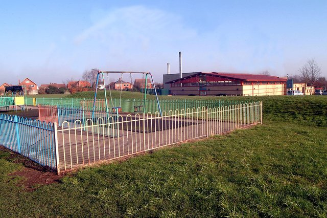 The woman says the incident happened at the play park at Hucknall Leisure Centre