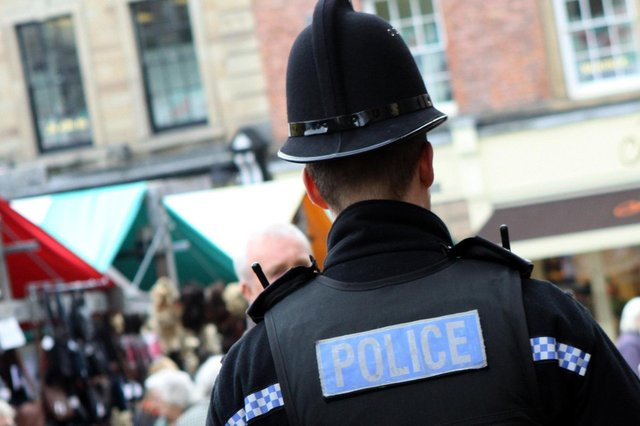 Police reacted fast to arrest the man after reports he was threatening people with a knife