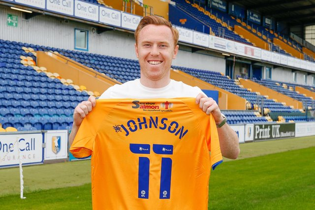 Leyton Orient hotshot Danny Johnson joined the Stags last week.