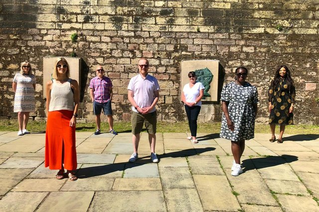 The Invest in Nottingham team on a recent trip to Nottingham Castle.