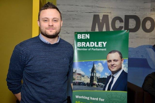 New county council leader and Mansfield MP Ben Bradley