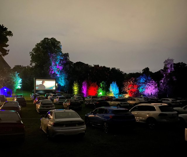 The Village Screen pop-up cinema at Kenwood Hall. Picture: The Village Green Events Company.