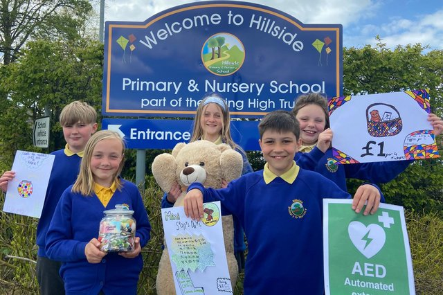 Hillside pupils have already raised more than £1,000 for a new defibrillator in their community