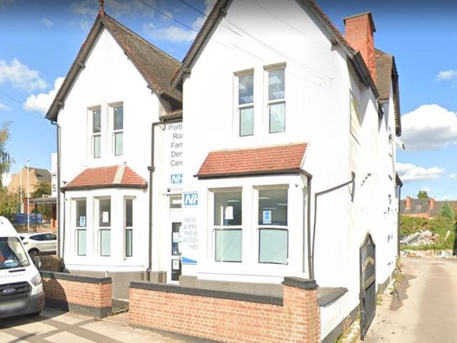 Neighbours say the dental practice on Portland Road is being extended before full planning permission has been granted. Photo: Google