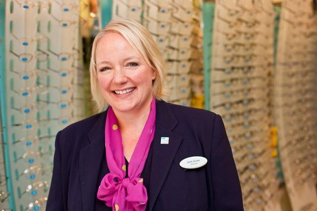 Janet Archer, store director at Specsavers, Hucknall