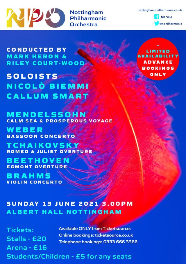 Nottingham Philharmonic Orchestra will be performing live in the city on June 13.