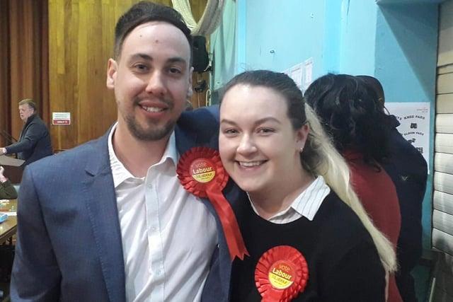 Labour councillors Keir Morrison and Lauren Mitchell.