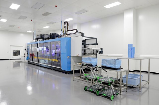 Clean Room facility recently installed at TEQ's facility in Hucknall. Photo: Plastique/Page One