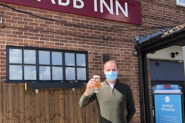Joel Wright, assistant manager at the Nabb Inn, is looking forward to welcoming customers back into the pub again