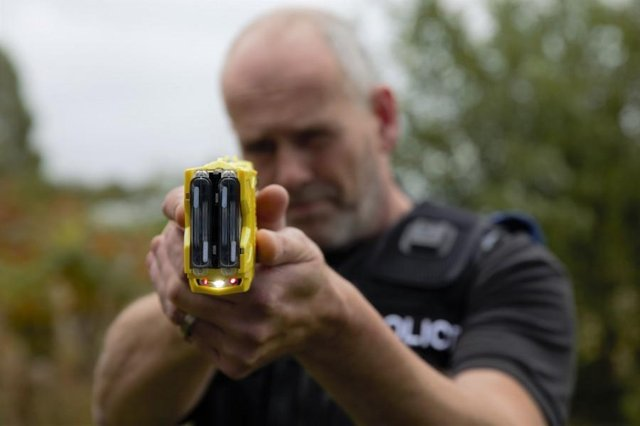 Police used a Taser to subdue the suspect after he attacked officers. Photo: Nottinghamshire Police