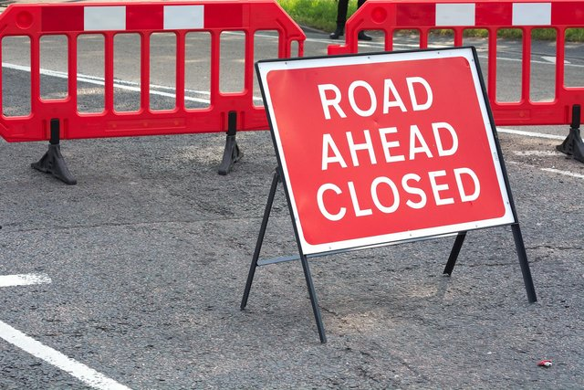 Road closures will be in place some nights from 7pm next week