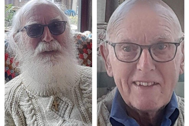 Colin Dutton before and after the big shave