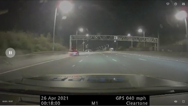 The car was clocked at 160mph on the M1.