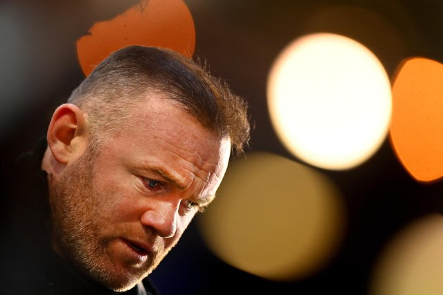 Derby boss Wayne Rooney - down but not yet out.