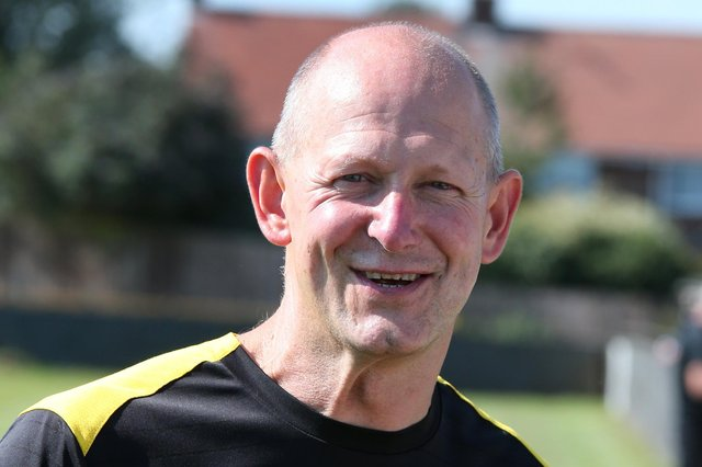 Hucknall town manager Andy Graves - happy with new, young prospect.