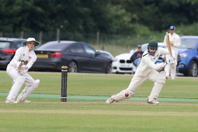 Hassan Chaudry adds runs for Hucknall against Cuckney last weekend.