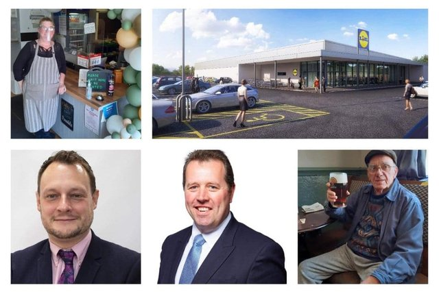 Some of the names and and faces who have helped make this week's news in the Dispatch, clockwise from top right: Deborah Wilson-Challans, Lidl, Ken Willett, Mark Spencer MP, Coun Jason Zadrozny