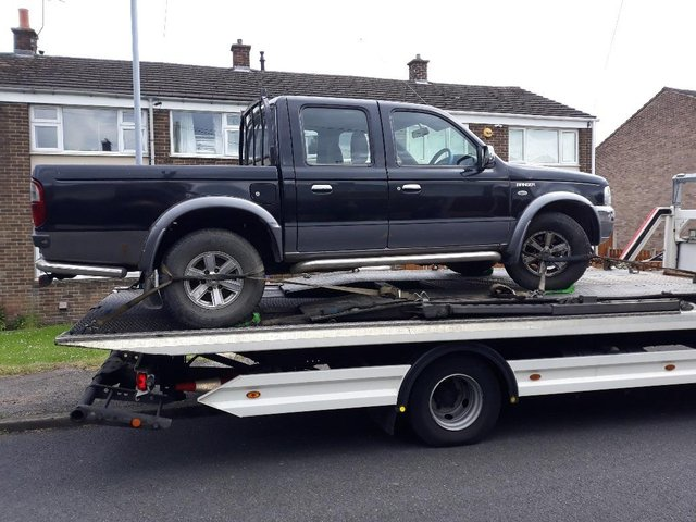Police removed untaxed vehicles from Hucknall's streets. Photo: Ashfield Police