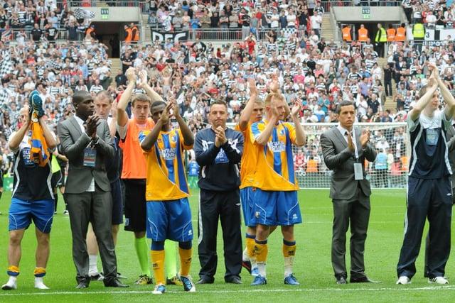 Stags v Darlington FA Trophy Final at Wembley 7th May 2011