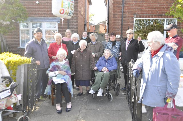 Neighbours turned out in force to celebrate Lauries big day