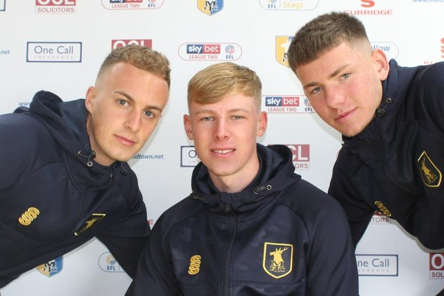 Ethan Hill, Nathan Caine and George Cooper - first pro deals with Stags.