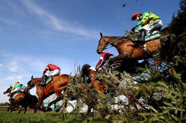 Grand National Handicap Chase at Aintree Racecourse. (Photo by Michael Steele/Getty Images)
