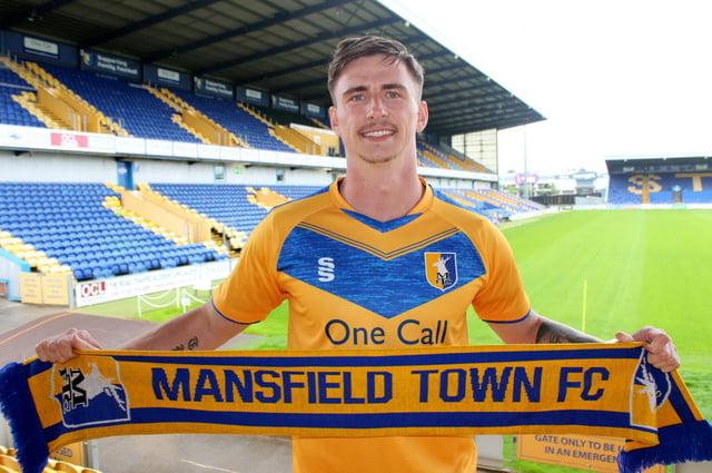 Mansfield Town's giant new striker Oli Hawkins.