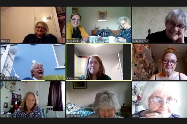 Members of Hucknall (Leenside) WI held their latest meeting over Zoom