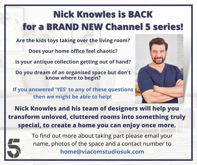 Channel 5 is looking for people who need to declutter and a redecorate their house
