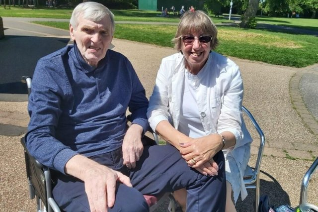Christine Eagle and her husband Arthur, who suffers with dementia