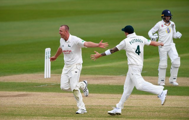Luke Fletcher took eight wickets in the match to become the competitions leading wicket tacker. (Photo by Stu Forster/Getty Images)