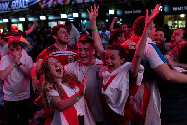 Many England fans will flock to pubs on Sunday night to watch the game. Photo: Dan Kitwood/Getty Images