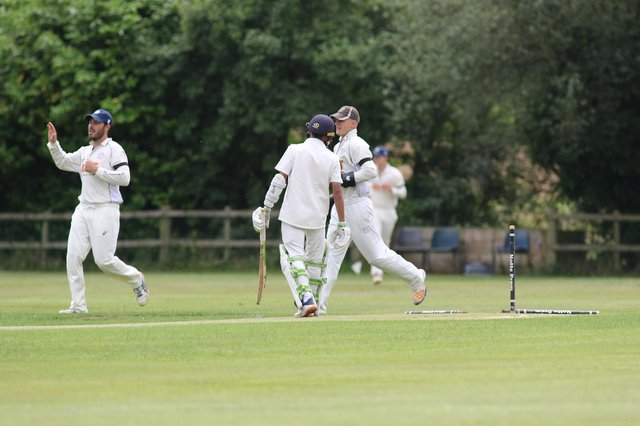 Plumtree's Qundeel Haider loses two stumps to Papplewick's Dan Blatherwick