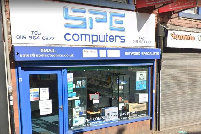 The SP Electronics shop on Hucknall High Street is closing this weekend. Photo: Google Earth