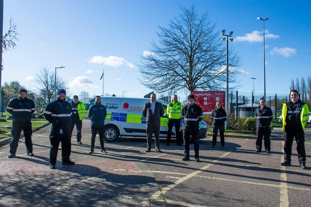 Members of Ashfield District Council's new environmental enforcement team