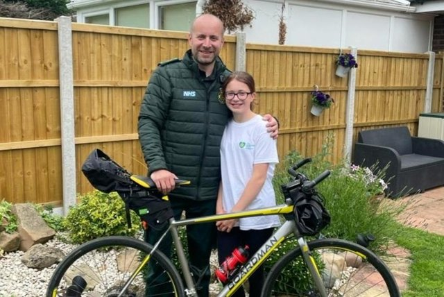Paul Duda - pictured with his daughter Olivia - is taking on the Coast to Coast Challenge in August