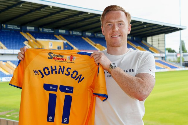 Danny Johnson signs for the  Stags. Photo by Chris Holloway - The Bigger Picture.