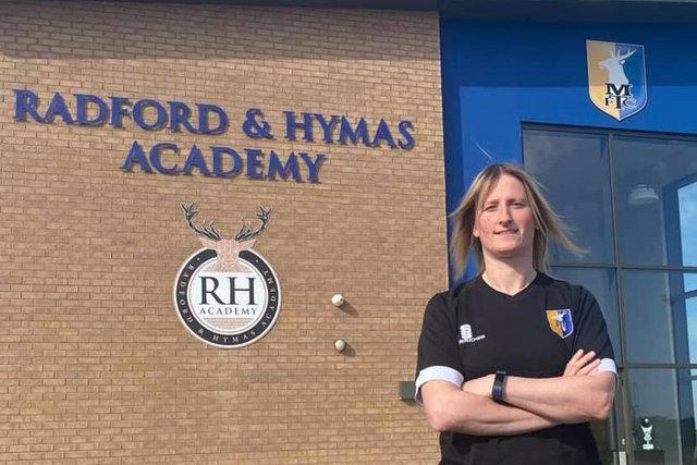 Stags boss Andi Bell at the RH Academy.