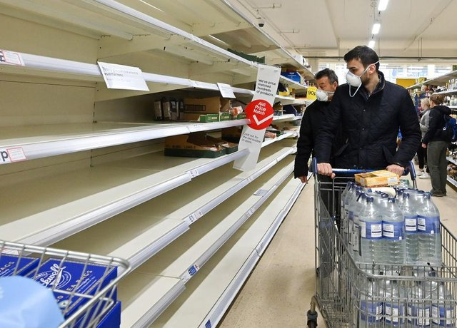 Shoppers across the country have begun stockpiling household items over shortages fears (Getty Images)