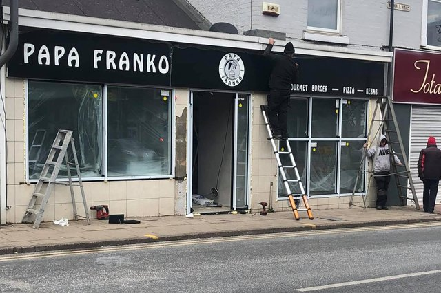 The new Papa Franko takeaway on Watnall Road is currently being fitted out ready for opening. Photo: Suzi Williamson