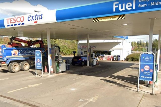 Hucknall Tesco Extra petrol station is closing for a month from this weekend. Photo: Google