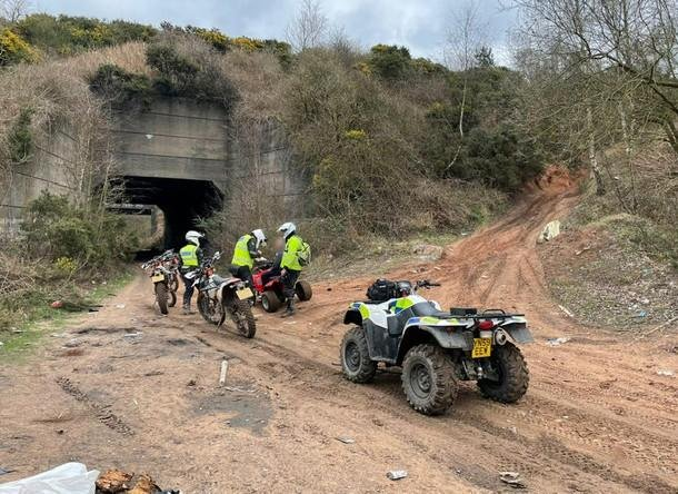 Officers in Nottinghamshire are urging off-road motorcyclists to ride on legal areas.