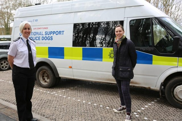 Chief Inspector Amy Styles-Jones, left, and Nottinghamshire's Deputy Police and Crime Commissioner (DPPC) Emma Foody.