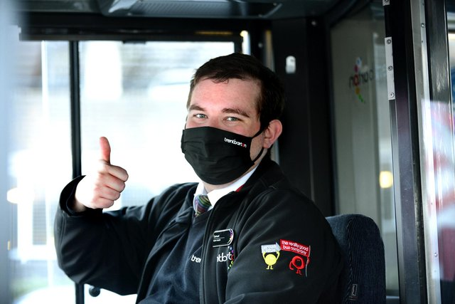 Trentbarton team leader Sam Hollands gives the return to more frequent buses the thumbs-up. Photo: Lionel Heap