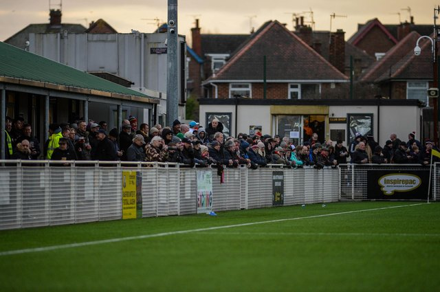 Basford fans pack into Greenwich Avenue.